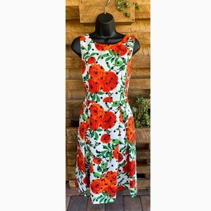 New York And Company | Floral And Dot Dress Size 6